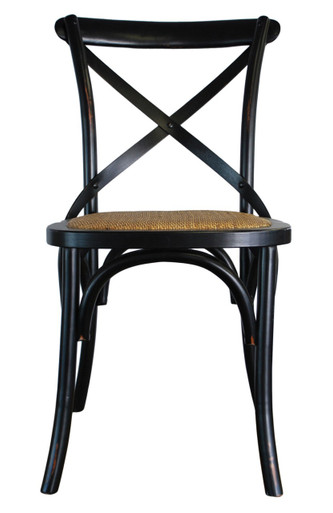 Home · Chairs; Provincial Crossback Chair   Black. Image 1