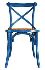 Blue Cross Back Chair
