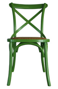 Green Provincial Cross Back Chair