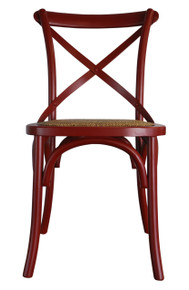 Provincial Crossback Chair - Red