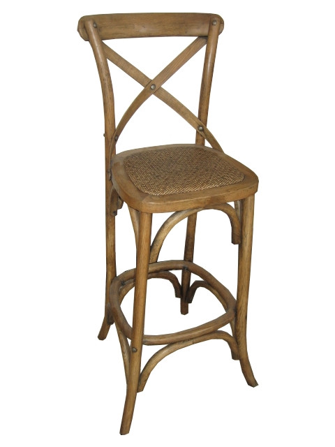 Provincial Crossback Bar Stool Natural 189