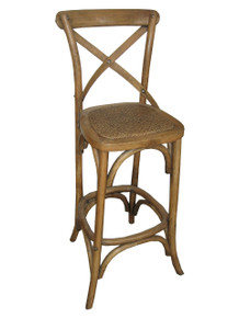 Natural Provincial Crossback Bar Stool