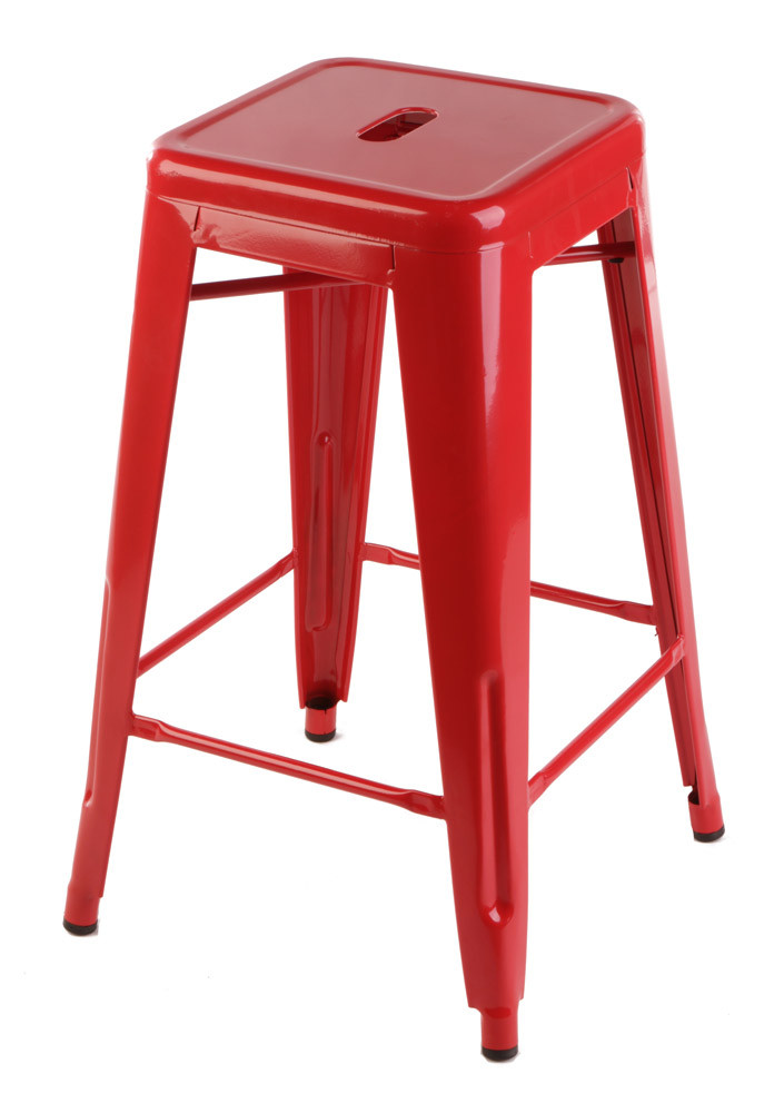 Replica Tolix Stool 65cm Red Set Of 4 275