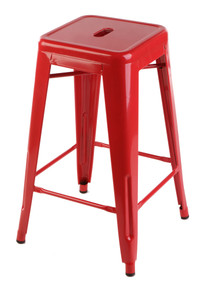 65cm Red Tolix Stool