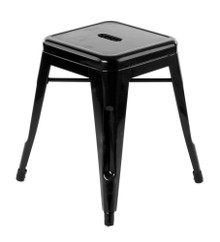 Short black Tolix stools side