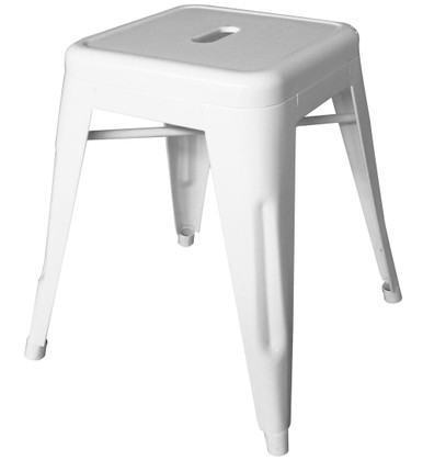 Short White Tolix Stool