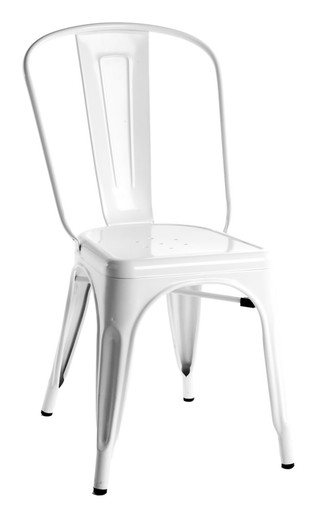 White Tolix Chair Side