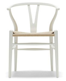 Stainless Steel White Powdercoated Replica Wishbone Chair