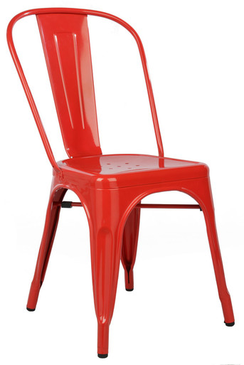 Red Tolix Chair Side View