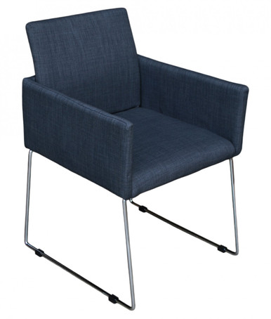 Enna Reception Chair - Charcoal