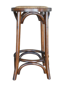Brown Provincial Crossback Breakfast Stool Front