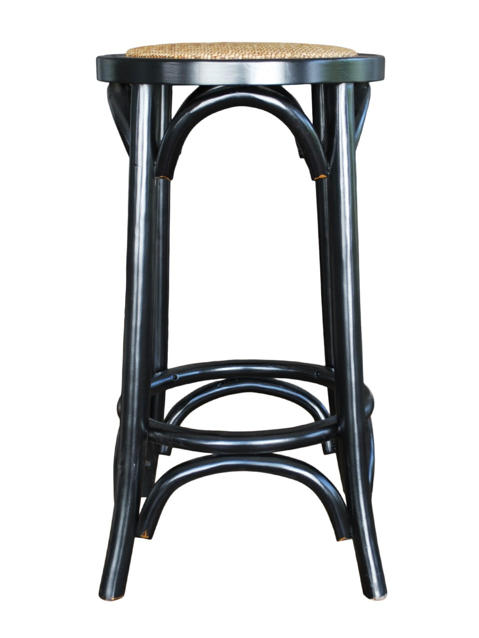 Provincial Crossback Breakfast Stool Black 119