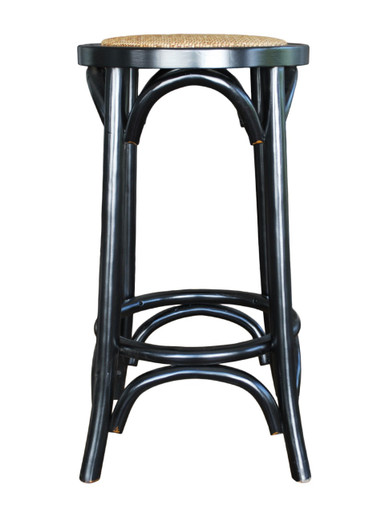 Black Provincial Crossback Breakfast Stool Front