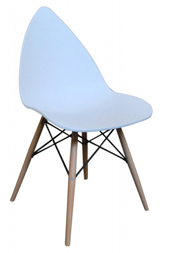 White Leaf Dining Chair