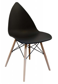 Black Leaf Dining Chair