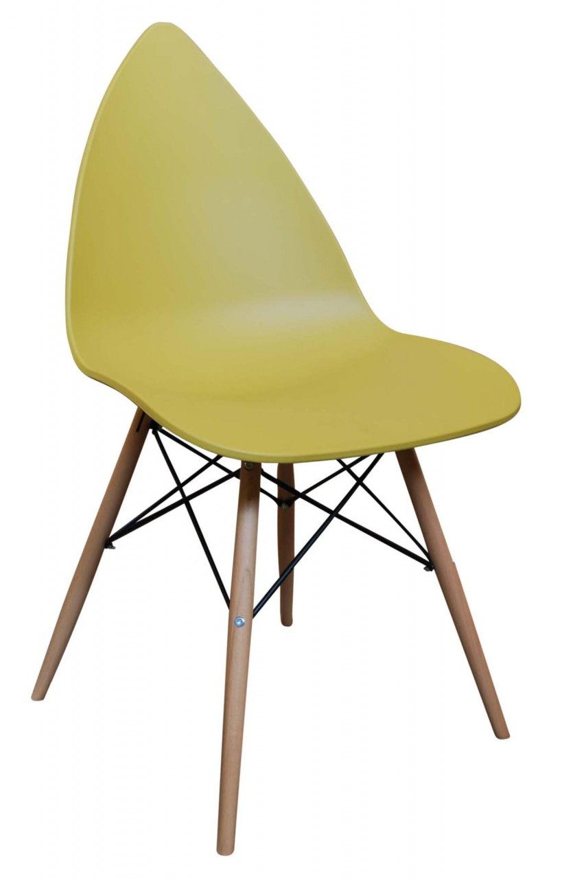 Leaf Dining Chair Mustard Yellow 159