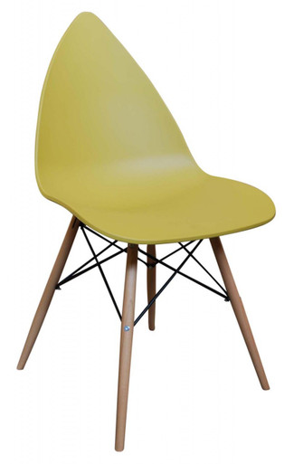 Leaf Dining Chair - Mustard Yellow