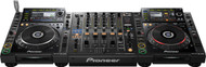 2 x Pioneer CDJ-2000s and 1 x Pioneer DJM-900 Mixer