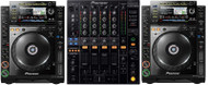 2 x Pioneer CDJ-2000s and 1 x Pioneer DJM-800 or DJM 750 Mixer