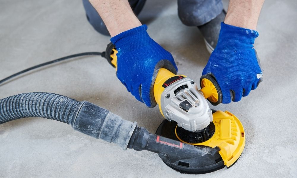 How To Grind Out Imperfections in a Concrete Floor