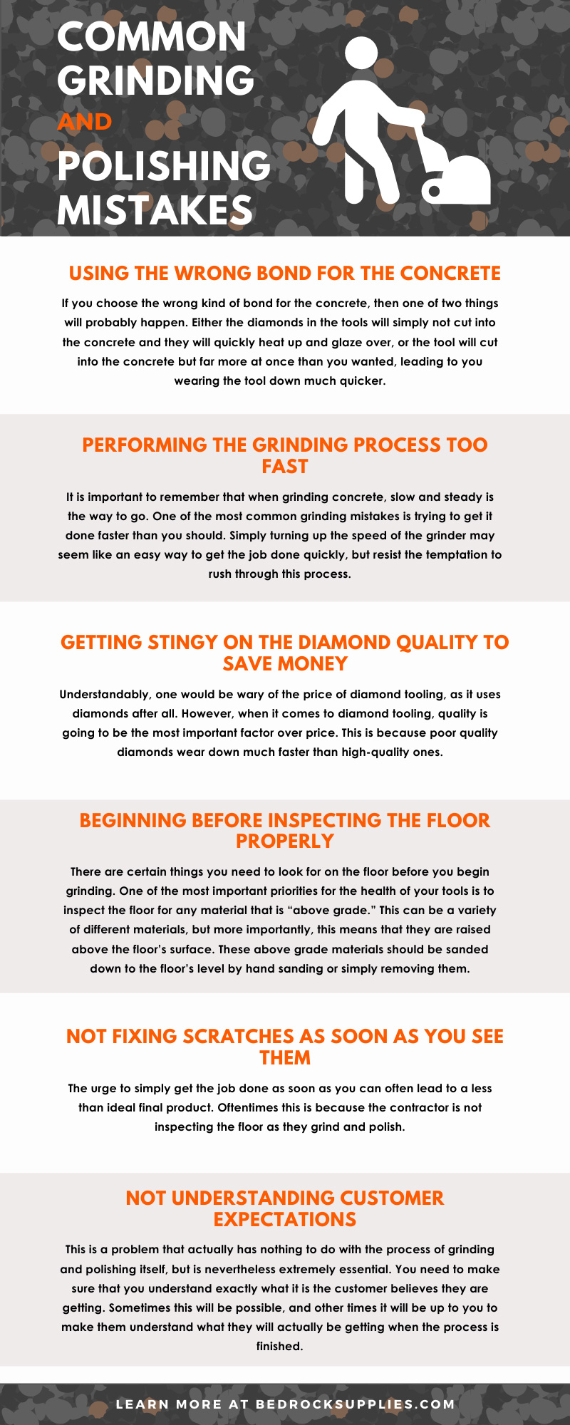 Common Grinding and Polishing Mistakes Infographic
