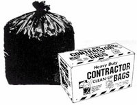 50 count black contractor trash bags heavy duty 3 mil