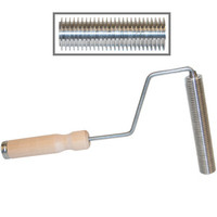 Aluminum Ribbed Roller, Hardwood Handle