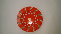 "12 Segment Soft Bond Diamond Cup Wheel for Hard Concrete (7"" x 5/8-11) PERFECT for  HARD CONCRETE!!"