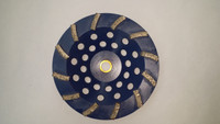 "12 Segment Diamond Cup Wheel Hard Bond (7"" x 5/8-11)  PERFECT for SOFT concrete!!!"