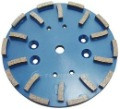 Heavy-Grind Diamond Plates are the best solution for large areas of thin coating removal, leveling and smoothing high spots in concrete, and work very well for concrete cleaning. Their segments are designed for aggressive grinding of concrete to make short work of your larger projects.