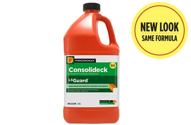 Prosoco Consolideck LS Guard is a co-polymer formulation improves surface sheen, hardness and stain resistance.