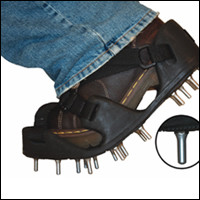 Flexible Bed Spiked Shoes, Rounded Tip Spikes