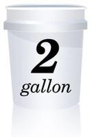 2 Gallon White Bucket