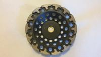 T-Segment diamond cup wheel (designed for prepping edges.)