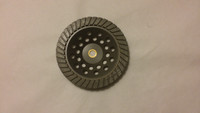 """7"""" Turbo finishing diamond cup wheel great for polishing concrete and granite. (Available grits Medium 170/200,Coarse 50/60,Fine 325/400)"""