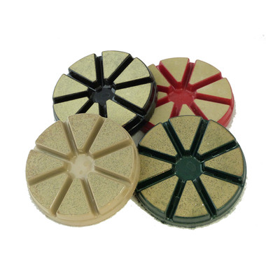 """Premium Ceramic Transitional 3"""" pads with the new Blue star diamond technology"""