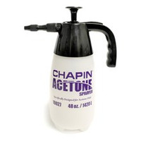 Chapin Acetone Sprayer line is specially designed and equipped for the Decorative Concrete Professional for use in staining with acetone-based dyes and other acetone only applications.