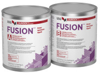 DUROCK™ FUSION™ PRIMER A one-coat waterborne epoxy specially formulated for interior applications as a consolidation primer for dusty compromised gypsum underlayments.
