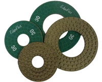 The flexible companion to the Easy Edge provides the same great edge finishing on any non-flat surface such as curbs and drains. Can be used wet or dry through 400 grit. Fine grits (800, 1500) are for dry grinding only.