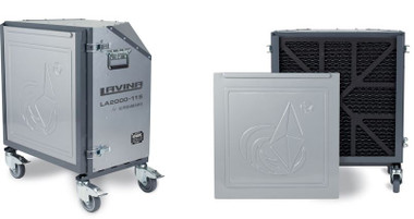 Lavina air scrubbers will provide additional dust protection for cleaner air and safer work environment. The air scrubbers are essentially a portable filtration system that filters the air - a large pre-filter and a separate Hepa filter work to remove air contaminants, and improve the quality of the air within a given area. Using an air scrubber during grinding and prep jobs is an efficient way to limit dust and chemical exposure.