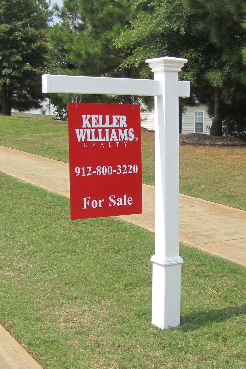 Vinyl Real Estate Post Pvc Yard Signs Savannah Series