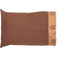 Patriotic Patch Pillowcase Set