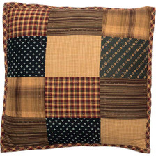 """Patriotic Patch 16"""" Quilted Pillow"""