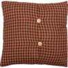 "Patriotic Patch 16"" Fabric Pillow Reverse"