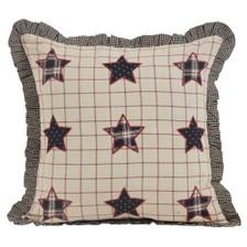 "Bingham Star 16"" Applique Stars Pillow"