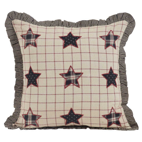 "Bingham Star 16"" Applique Stars Pillow"