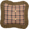 """Tea Cabin 16"""" Quilted Pillow Reverse"""