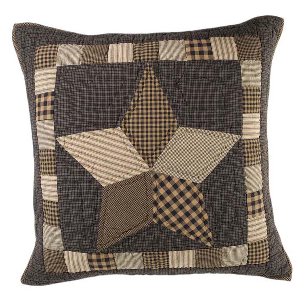 Farmhouse Star Quilted Euro Sham By Vhc Brands