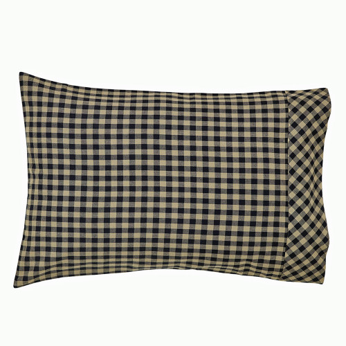 Black Check Pillow Case Set