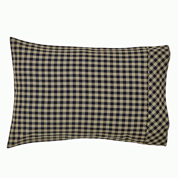 Black Check Pillow Case Set